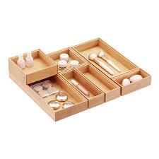 makeup organizer wood. stackable bamboo drawer organizers makeup organizer wood