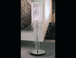 chandelier floor lamp gold tips lamps standing crystal shade in