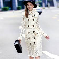 white lace burberry designer inspired trench coat