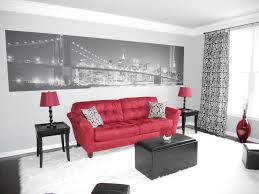 Red And Black Living Room Decorating Ideas Cool Color Scheme with regard to  Red And Black Living Room Decor