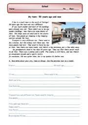 guided writing my town city village