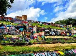 graffiti wall at castle hill baylor street art wall 365 things to do in austin on castle hill wall art with graffiti wall at castle hill baylor street art wall 365 things to