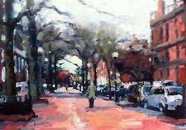 above brick side walk boston 10 x14 o p
