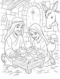 Nativity Coloring Pages Free Nativity Coloring Pages For Preschool