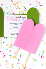 Diy Popsicle Invitations Free Printable Club Crafted