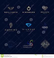 jewellery pany logos set