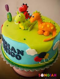 Songiah Dinosaur Birthday Cake