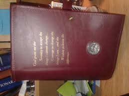 aa big book with 12 and 12 comes with a leather cover with the serenity prayer 1887391517