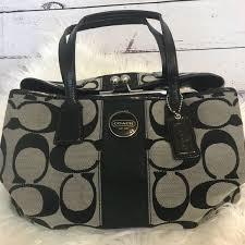 COACH signature large black and grey purse ⚫ ⚪️