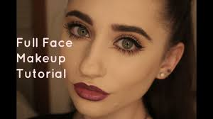 full face makeup tutorial acne coverage foundation