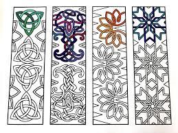 Printable Celtic Knot Designs Celtic Knot Bookmarks Pdf Zentangle Coloring Page
