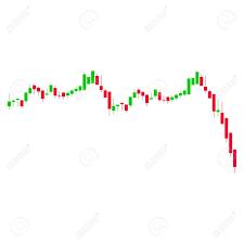 Bac Candlestick Chart Candlestick Graph Falling Acceleration Flat Vector Pictogram