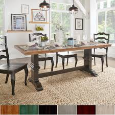 Eleanor Two-tone Rectangular Solid Wood Top Dining Table by iNSPIRE Q  Classic - Free Shipping Today - Overstock.com - 20215861