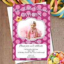 10 personalised s 1st first birthday polka dot party photo invitations n37