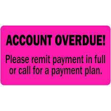 Overdue Account Account Overdue Labels Free Shipping