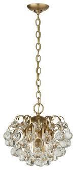 visual comfort lighting bellvale small chandelier antique brass