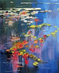water lilies painting 30x24x4 cm 2016 by elizabeth williams impressionism