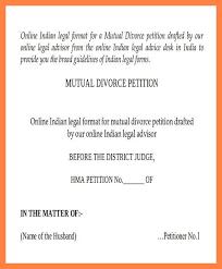 Divorce Forms In Indiadivorce Agreement Sample Lovely Divorce Best Divorce Notice Format