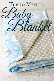 How To Make A Baby Blanket With A Sewing Machine