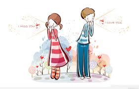 i miss you wallpaper cartoon