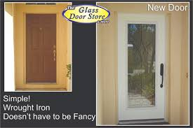 single front doors with glass. Wrought Iron Front Entry Glass Doors - The Door Store -Tampa Single With
