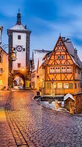 Germany, Rothenburg, Medieval town ...