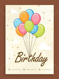 Beautiful Birthday Celebration Invitation Card Or Greeting Card