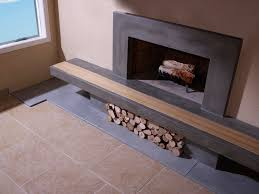 concrete fireplace hearth with wood inlay and surround for fireplace hearth pad