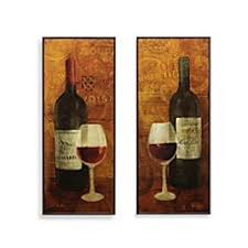 bed bath and beyond wall decor wine