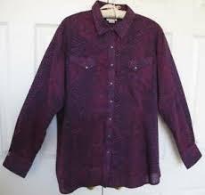 Details About Ariat Python Print Western Show Shirt Xxl 20 Snap Front Purple Pink 100 Cott0n