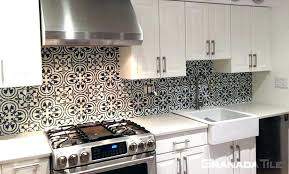 black and white backsplash black and white tile concrete tile in c design in black and