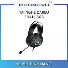 Tai nghe DareU EH416 RGB - Bảo hành 12 tháng - Tai nghe máy tính Nhãn hàng  Dareu
