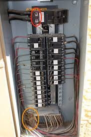 wiring the shop for 220v half inch shy quick tour of a service panel this picture has the cover removed at the top is the main breaker flip this and your whole house goes dark