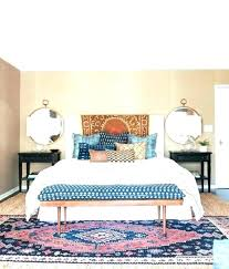 rug under queen bed. What Size Area Rug Under Queen Bed Placement Bedroom L