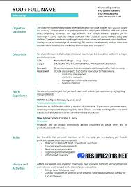 Resume For Internship No Experience Accounting Internship Resume No Experience Sample Marketing Intern
