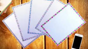 How To Decorate A Chart Paper Border Chart Paper Border Decoration Ideas For School