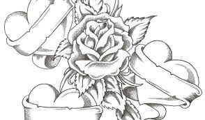 free roses coloring pages for s to print and hearts