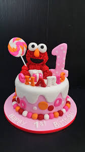 Elmo Cake And Cookies For 1 Year Old Charis Jocakes