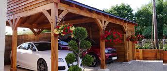 timber frame oak carports