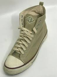 Eb Vintage Canvas High Top Khaki Sneaker Size Us 12 Uk 11 5