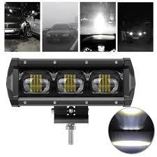 Utv Light Bar 8 Inch Dc12 24v 30w Car Suv Offroad Atv Utv 6d Lens Led Work