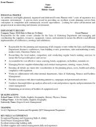Event Planner Cv Example Icover Org Uk