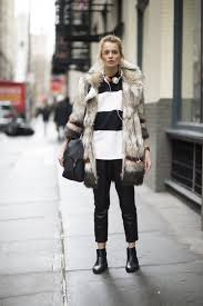 how to wear a fur coat without looking over the top closetful of clothes