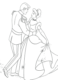 Cinderella Coloring Pictures Free Pages Online Page Prince Ball ...