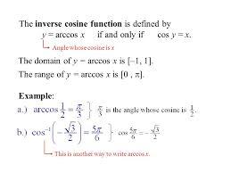 inverse cosine function