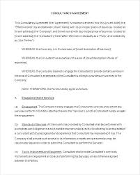 Consulting Agreement Sample In Word Awesome Service Fee Agreement Template Sample General Consultant Services