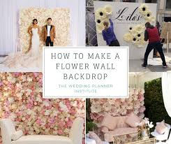 how to make a flower wall backdrop and