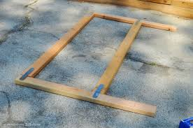 fresh ideas how to make a wood headboard diy weathered farmhouse38 basic frame from and footboard with lights
