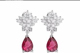 red cubic zirconia drop earring ruby red cz earrings red cubic zirconia crystal earrings red cubic chandelier earrings