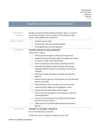 Staffing Coordinator Resume Staffing Coordinator Resume Template